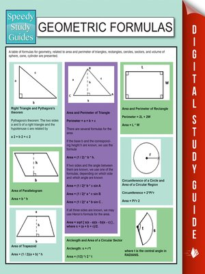 cover image of Geometric Formulas