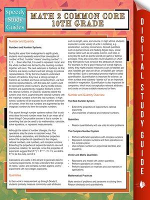 cover image of Math 2 Common Core 10th Grade
