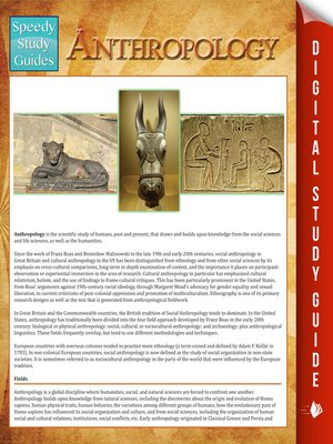 cover image of Anthropology