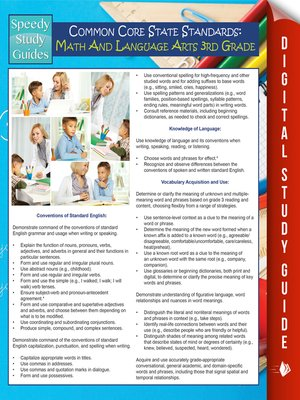 cover image of Common Core State Standards - Math and Language Arts, 3rd Grade
