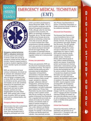 cover image of EMT- Emergency Medical Technician