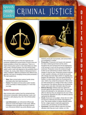 cover image of Criminal Justice