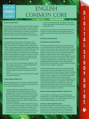 cover image of English Common Core II