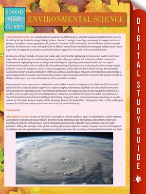 Environmental Science Speedy Study Guides Series