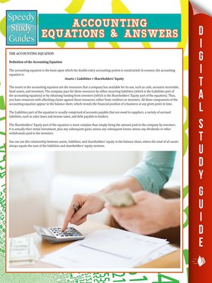 cover image of Accounting Equations and Answers