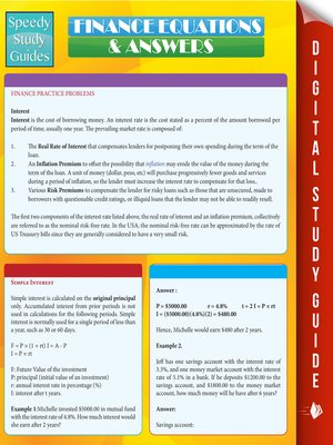 cover image of Finance Equations & Answers