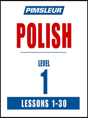 cover image of Pimsleur Polish Level 1 MP3