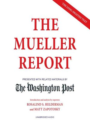 cover image of The Mueller Report