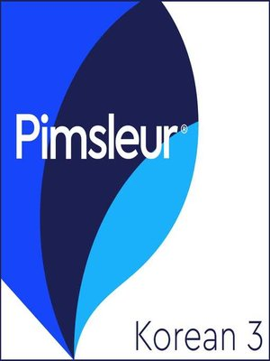 cover image of Pimsleur Korean Level 3