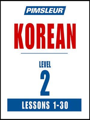 cover image of Pimsleur Korean Level 2 MP3