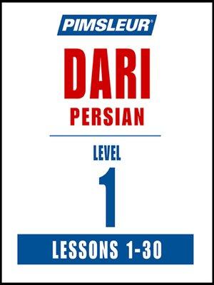 cover image of Pimsleur Dari Persian Level 1 MP3