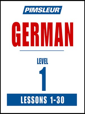 cover image of Pimsleur German Level 1 MP3