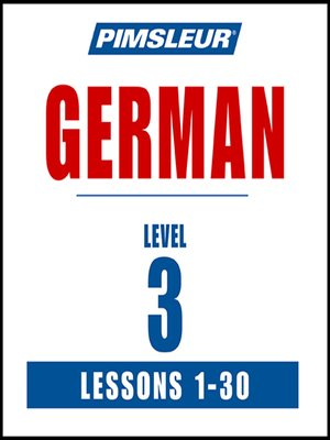 cover image of Pimsleur German Level 3 MP3