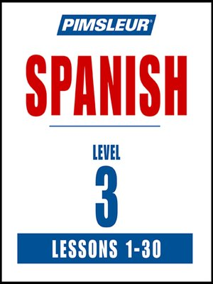 cover image of Pimsleur Spanish Level 3 MP3