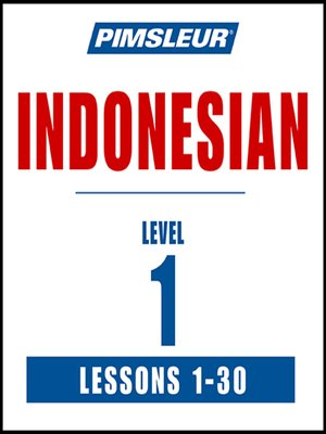 cover image of Pimsleur Indonesian Level 1 MP3