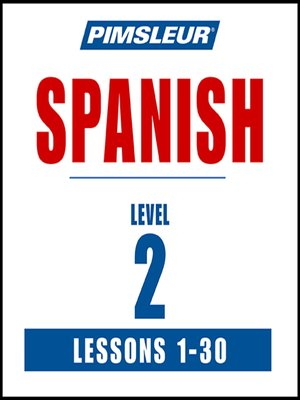 cover image of Pimsleur Spanish Level 2 MP3