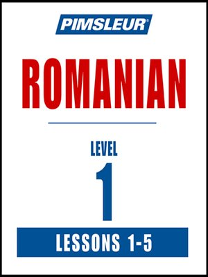 Pimsleur Romanian Basic Course  Level 1 Lessons 110 CD Learn to Speak and Understand Romanian with Pimsleur Language Programs