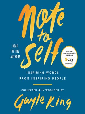 cover image of Note to Self