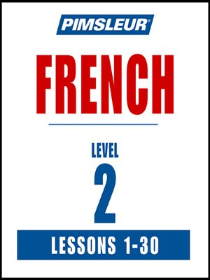 cover image of Pimsleur French Level 2 MP3