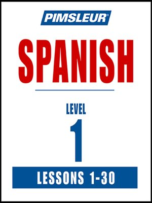 cover image of Pimsleur Spanish Level 1 MP3