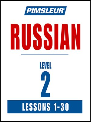 cover image of Pimsleur Russian Level 2 MP3