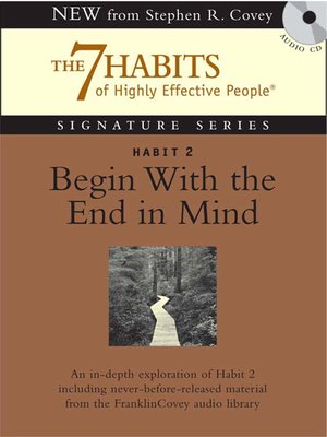 cover image of Habit 2 Begin With the End in Mind
