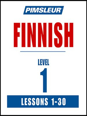cover image of Pimsleur Finnish Level 1 MP3