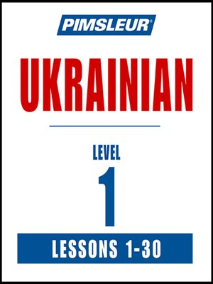 cover image of Pimsleur Ukrainian Level 1 MP3