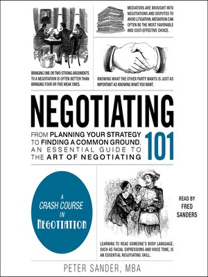 cover image of Negotiating 101