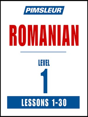 cover image of Pimsleur Romanian Level 1 MP3