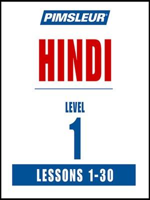 Pimsleur Hindi Level 1 MP3 by Pimsleur · OverDrive (Rakuten