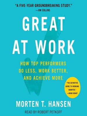 cover image of Great at Work