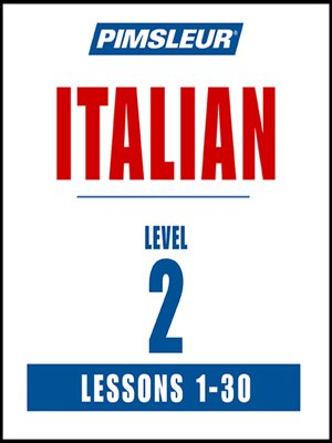 cover image of Pimsleur Italian Level 2 MP3