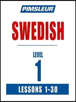 cover image of Pimsleur Swedish Level 1 MP3