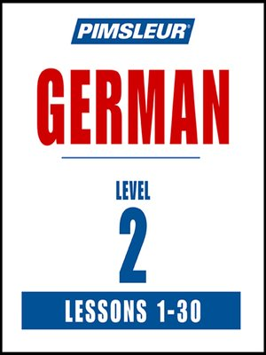 cover image of Pimsleur German Level 2 MP3