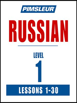 cover image of Pimsleur Russian Level 1 MP3