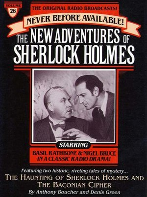 cover image of The Haunting of Sherlock Holmes and Baconian Cipher