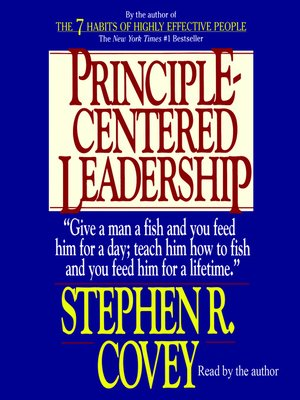 cover image of Principle-Centered Leadership