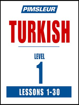 cover image of Pimsleur Turkish Level 1 MP3