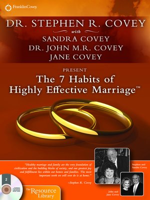 cover image of The 7 Habits of Highly Effective Marriage