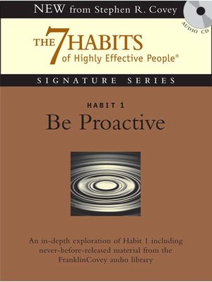 cover image of Habit 1 Be Proactive