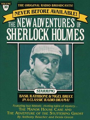 cover image of The Manor House Case and The Adventure of the Stuttering Ghost