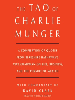 cover image of Tao of Charlie Munger