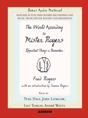 cover image of The World According to Mr. Rogers