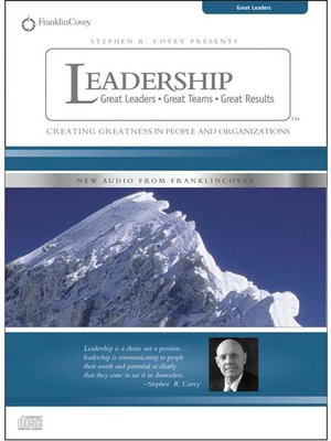 cover image of Stephen R. Covey on Leadership