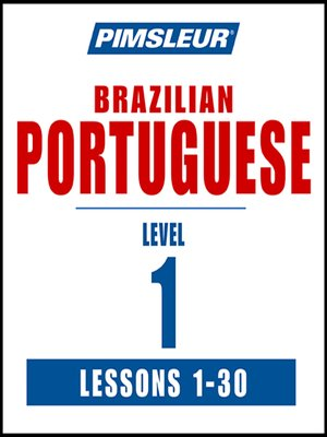 cover image of Pimsleur Portuguese (Brazilian) Level 1 MP3