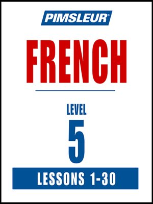cover image of Pimsleur French Level 5 MP3