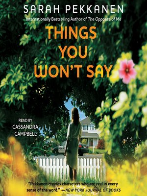 cover image of Things You Won't Say