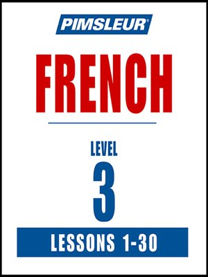 cover image of Pimsleur French Level 3 MP3