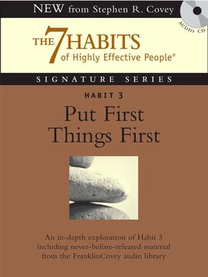 cover image of Habit 3 Put First Things First